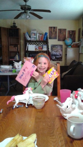 Homemade card + candy = win.