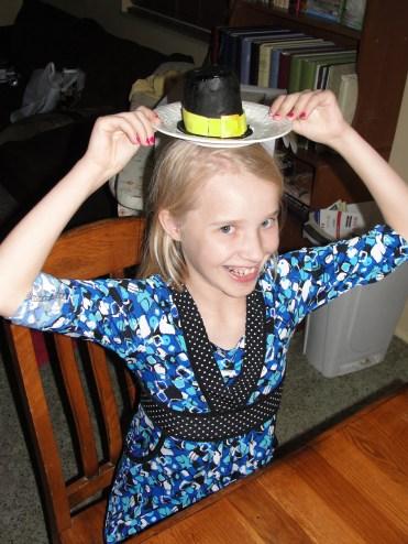 I'll eat my hat! No, really. She did.