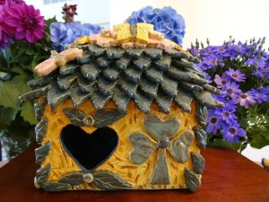 Shamrock Fairy House by The Fairy Potter