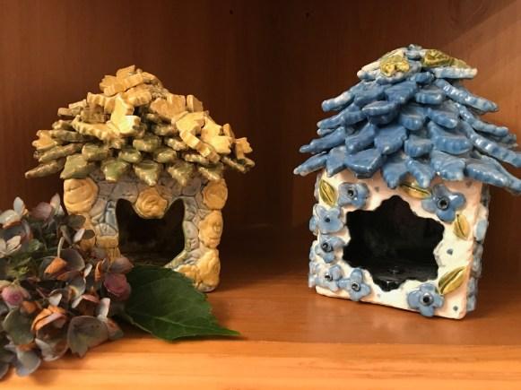 Blue Hydrangea Fairy House