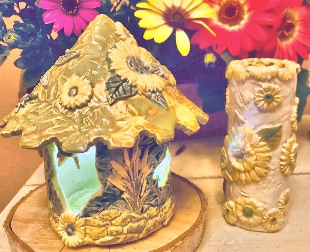 sunflower fairy house 2019