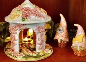 Hydrangea Gazebo and Gnomes