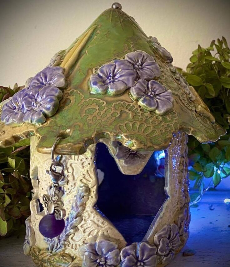 Pansy Fairy House