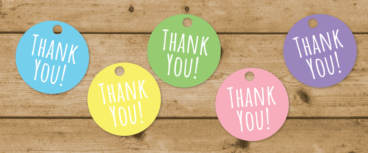 picture regarding Thank You Banner Printable referred to as Printable Pastel Thank On your own Tags -