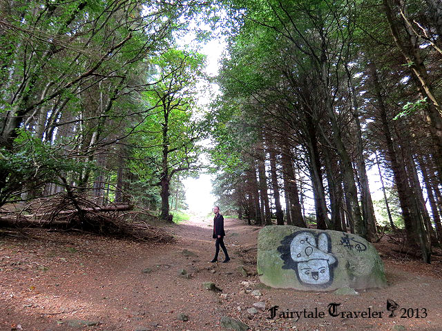 Halfway up the trail to the Hellfire Club photo by Christa Thompson