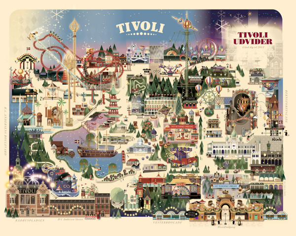 A map of last years Christmas at Tivoli, I thought this was cool, then again I have a thing for maps...