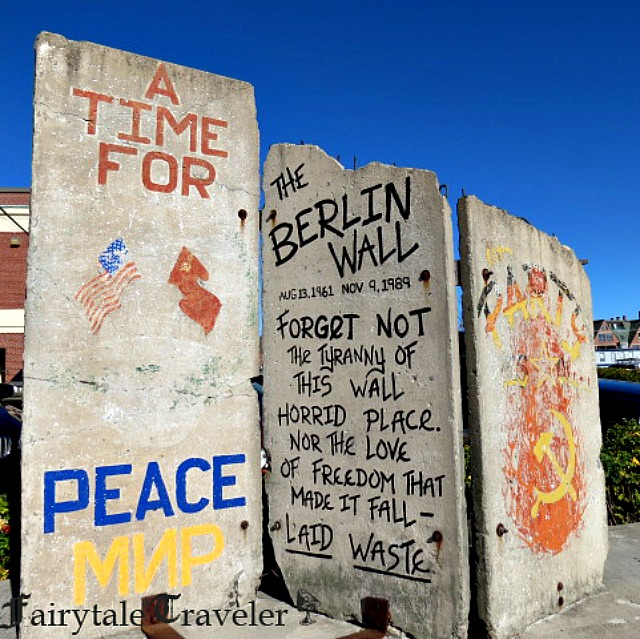 I was surprised to see a piece of the Berlin Wall in Portland, Maine. A bonus for me for the day! Very cool.  by Christa Thompson