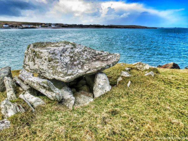 This is the oldest court tomb in all of Ireland. I was taken here, to the cliffs of Cleggen Head by Archaeologist Gerry MacCloskey. Could this be the tomb of a lost soul of the Fir Bolg?