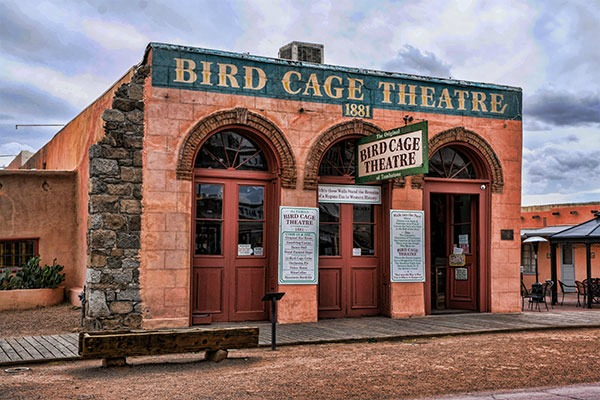The famous Bird Cage Theatre