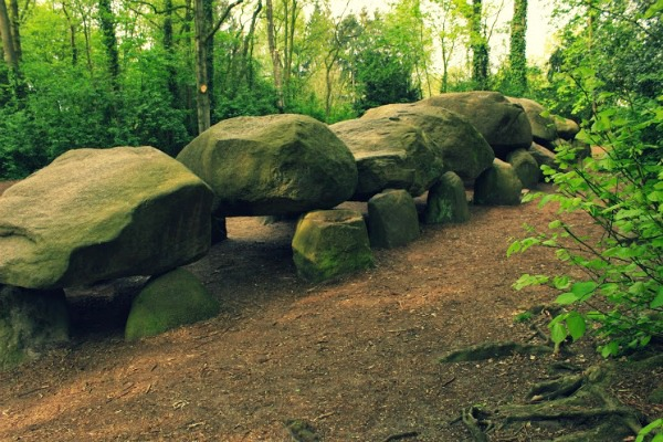 A Hunebed in Borger, Netherlands. Can you imagine these stones being moved all the way from Scandinavia 5,000 years ago?