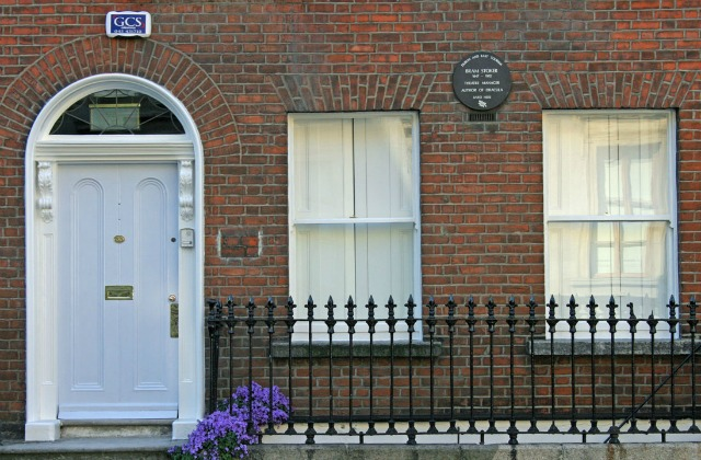 Bram Stoker's home on Kildare Street in Dublin Wikimedia Commons Public Domain 2008