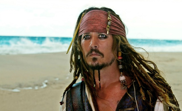 The lovely Captain Jack Sparrow from Disney's Pirates of the Caribbean movies.