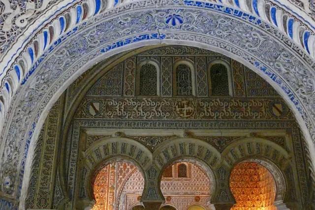Muslim architecture inside the Alcázar