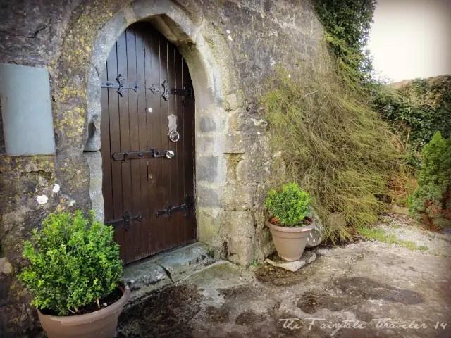 An old castle door at the Dysert O'Dea Castle in Corofin, County clare, Ireland