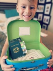 The Little with his new Little Passports subscription.
