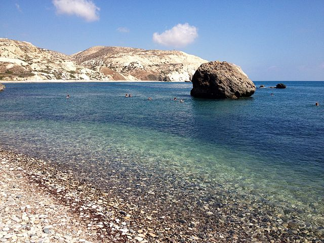 Aphrodite's rock. Would you swim around three times?
