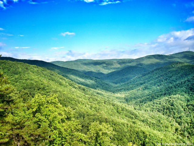The vista from Darkside Cliffs Trail 272 in the Wilson Creek Wilderness Area of Pisgah National Forest. Photo by Christa Thompson