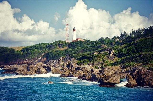 The lighthouse at Ragged Point.