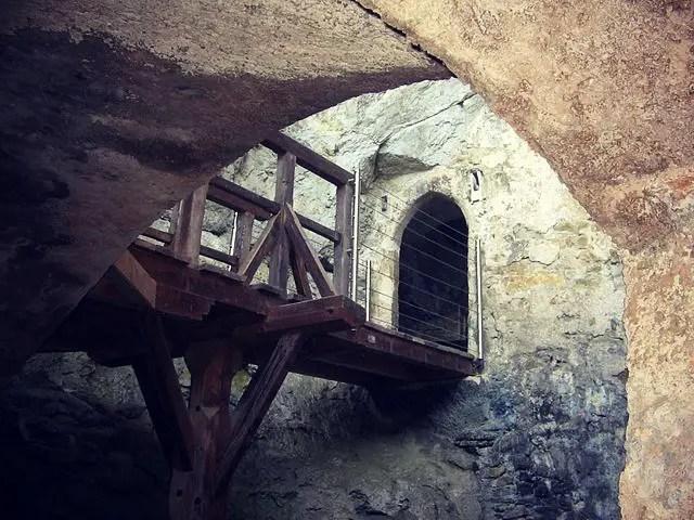 Passage into Predjama Castle photo provided by Janez Novak of Wikimedia Commons
