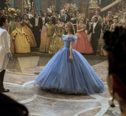 Cinderella w Frozen Fever in front