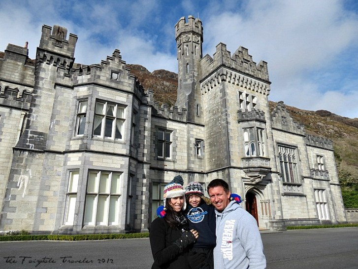 Me, the Little and Brian at Kylemore Abbey in Galway, Ireland. This was my son's and Brian's first trip out of the U.S. and it was made entirely possible by Tourism Ireland through my blog brand.