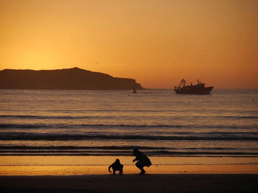 Beach Essaouira Morocco Travel Sunset Sea Nature
