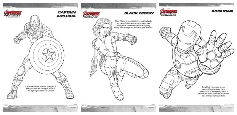 avengers age of ultron coloring pages and more