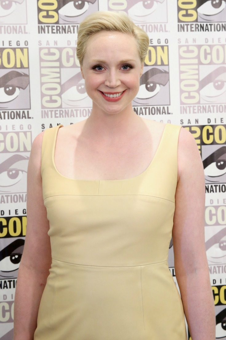 SAN DIEGO, CA - JULY 10: Actress Gwendoline Christie at the Hall H Panel for Star Wars the Force Awakens during Comic-Con International 2015 (Photo by Jesse Grant/Getty Images for Disney)