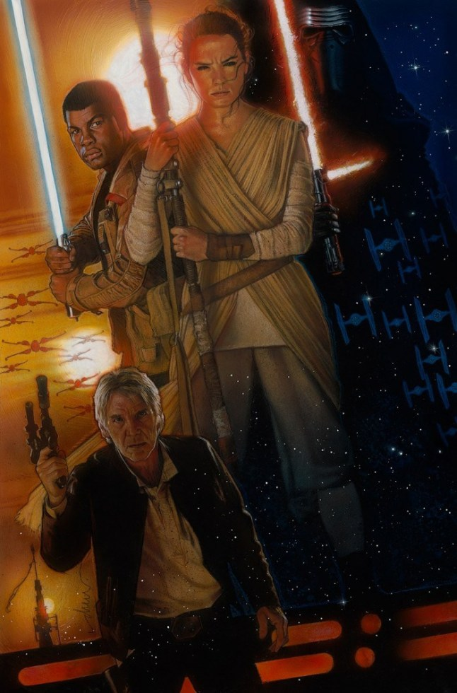 D23 Expo Commemorative The Force Awakens Poster Drew Struzan