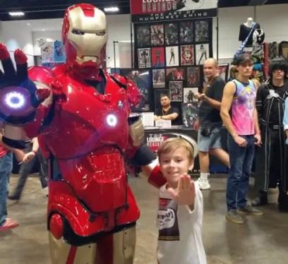Kid Friendly with Iron Man Tampa Bay Comic Con