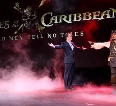 Johnny Depp as Captain Jack Sparrow at D23 Expo 2015
