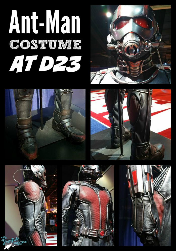 Ant-Man Costume at D23 EXPO back, front, shoes, gloves