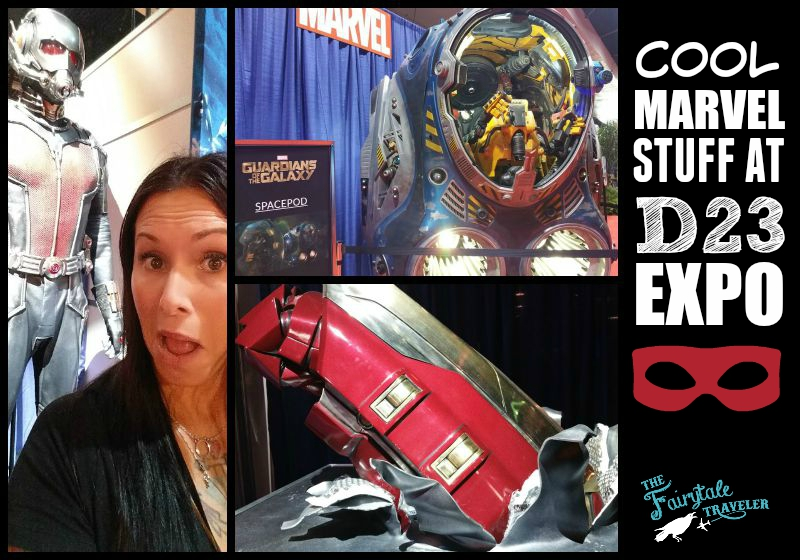 Marvel set at D23 EXPO Guardians of the Galaxy Space Pod