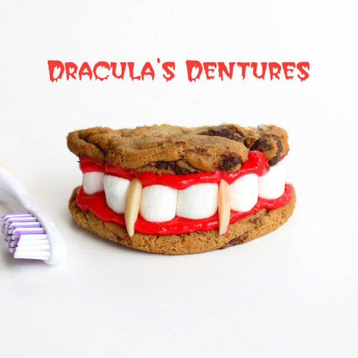 Halloween Recipes Dracula's Dentures