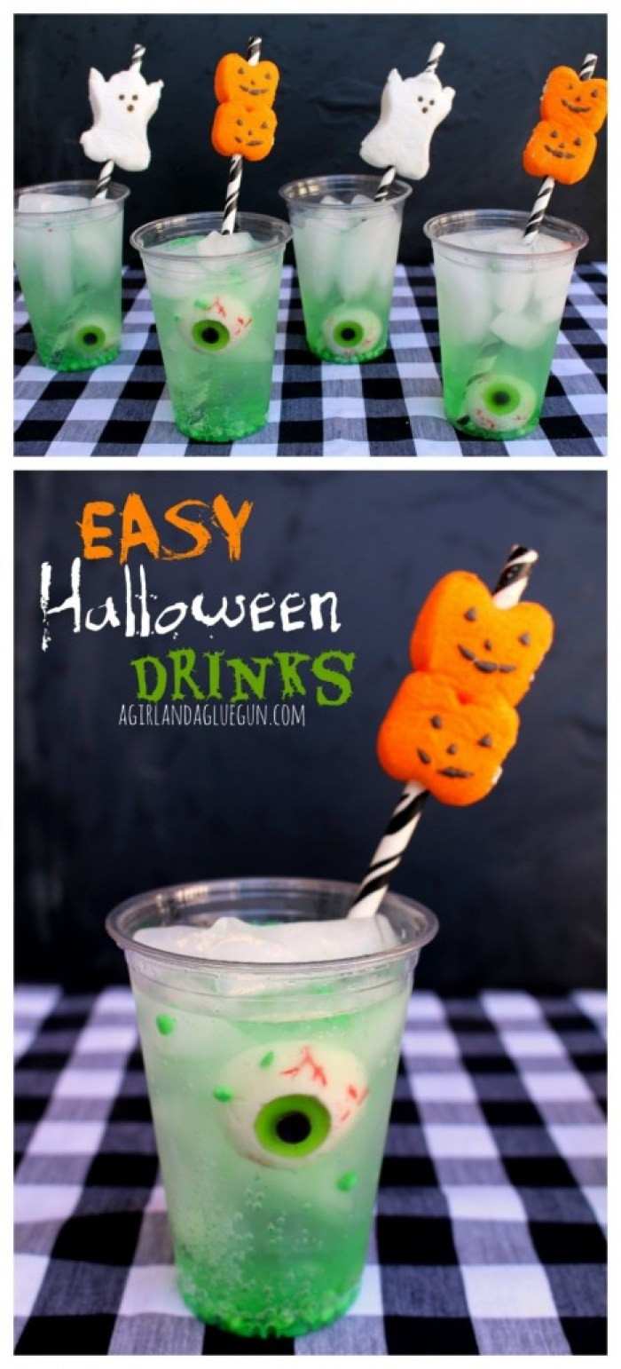 Halloween Recipes Easy Halloween Drink With Peep Straws
