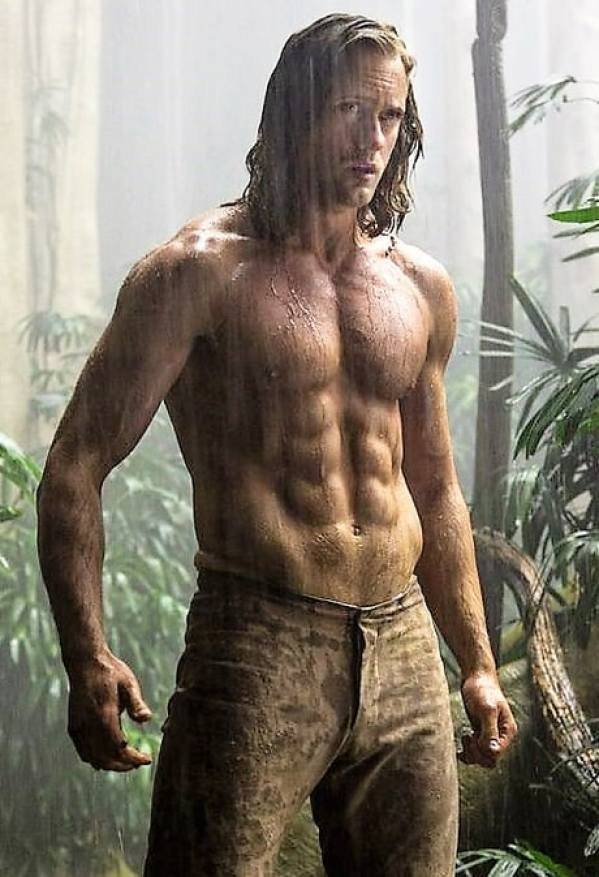 Alexander Skarsgard abs the legend of Tarzan