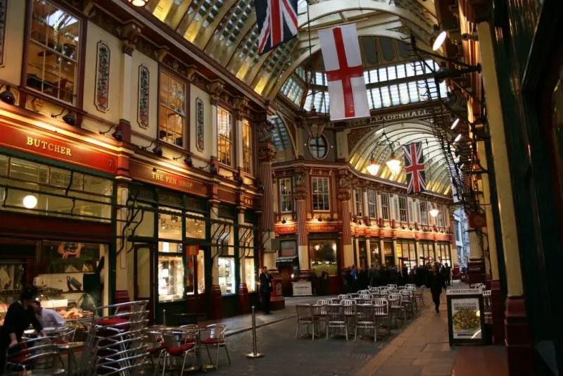 Leadenhall Market, London, Victorian city, Charles Dickens