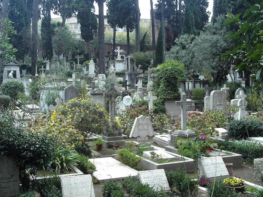 Cimitero_Acattolico_Roma By LuciusCommons - Own work, Public Domain