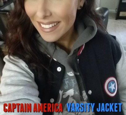 Christa Thompson, The Fairytale Traveler, Disney Mom, Blogger, Captain America, Varsity Jacket