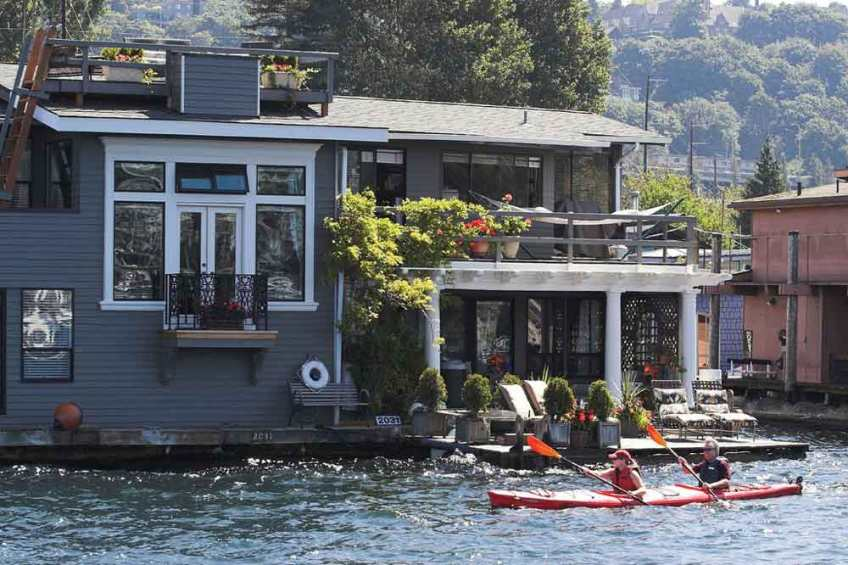 Lake Union, Seattle, houseboat