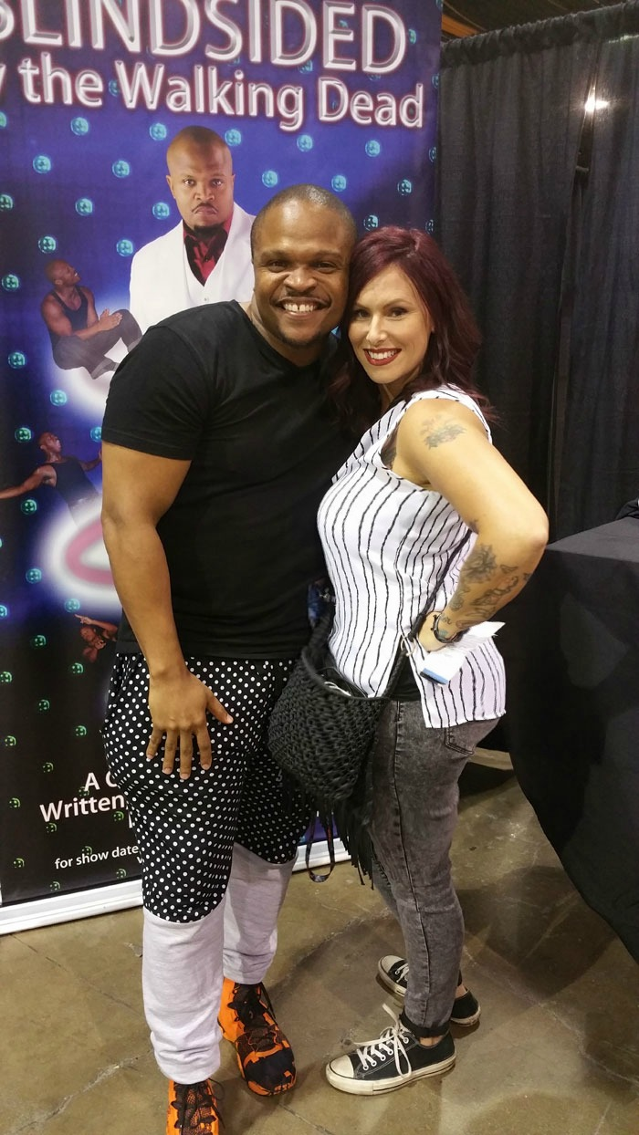 IronE Singleton, Christa Thompson, The Walking Dead, T Dog, Walker Stalker, Chicago