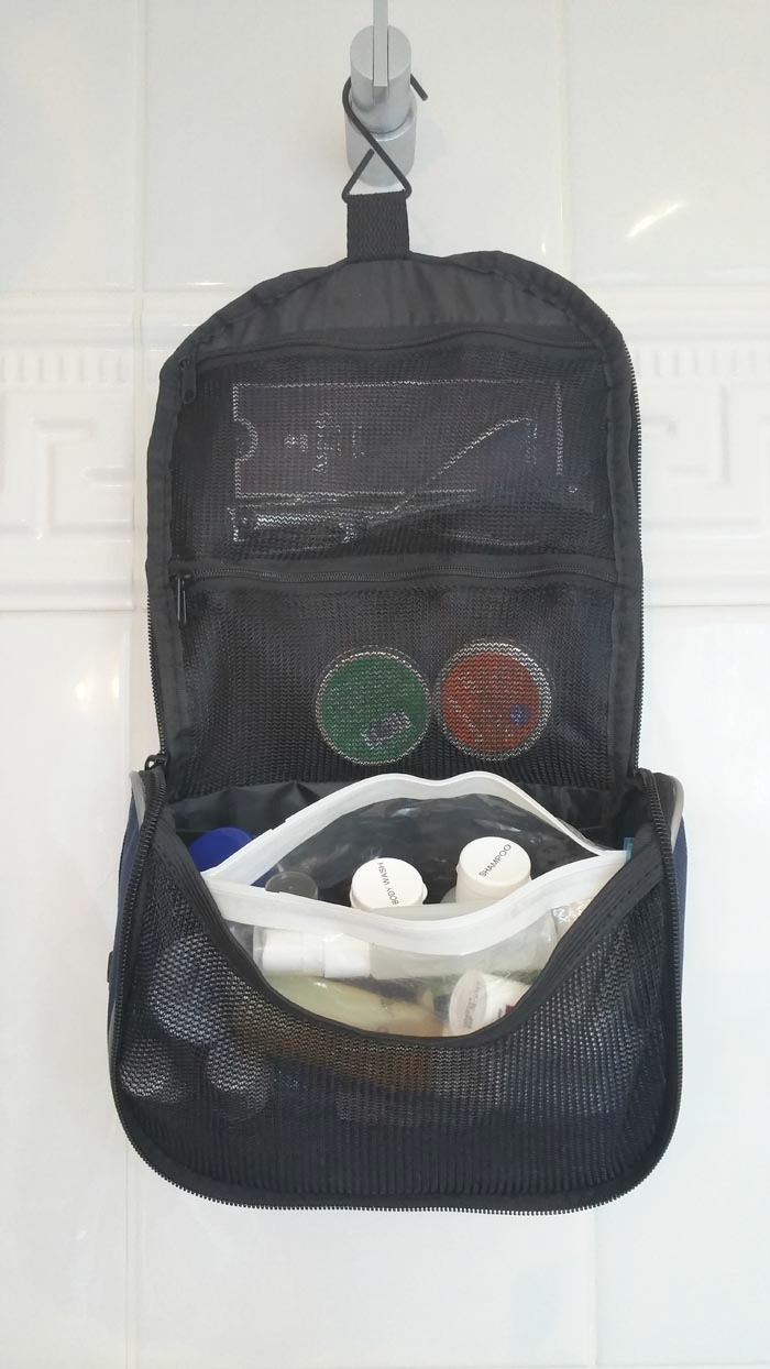 how to, pack toiletries, toilettree, toiletry bag, review