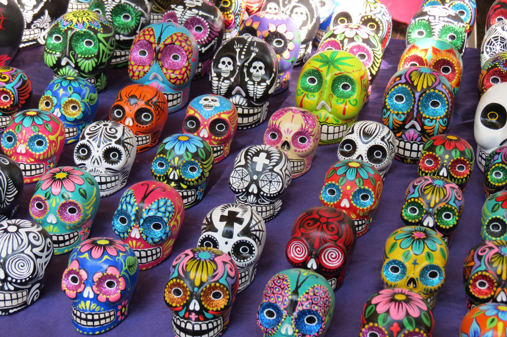 Day of the Dead vacation, Xcaret, Mexico, dia de los muertos, sugar skulls