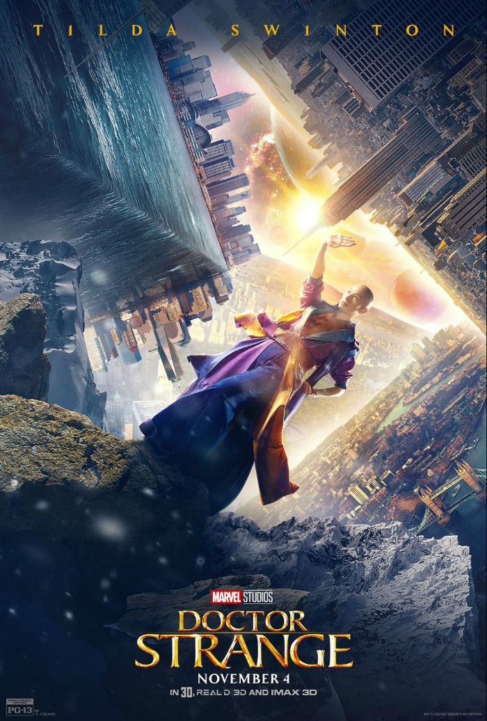 Tilda Swinton, Doctor Strange, interview, poster