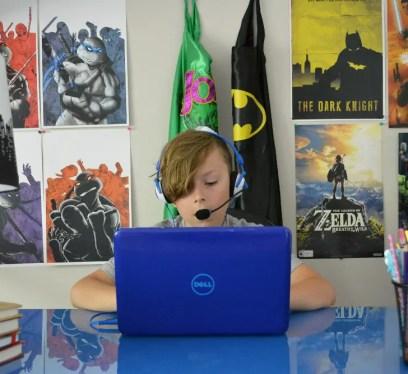 Kidz Gear Wired Headset with Boom Mic, kidfriendlyTV, Gauge Rybak