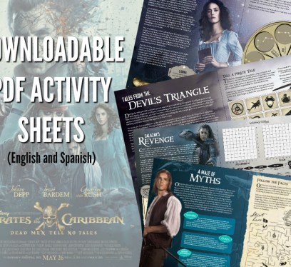 Pirates of the Caribbean: Dead Men Tell No Tales Activity Sheets