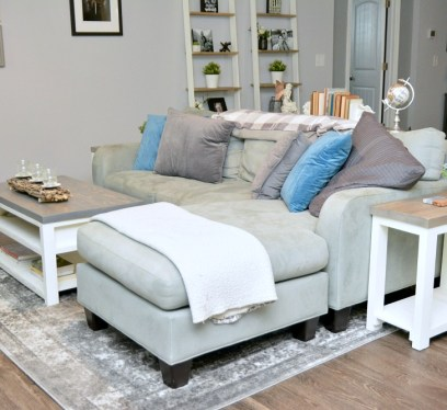 Farmhouse living room, budget friendly farmhouse decor, handmade furniture, keep your home clean