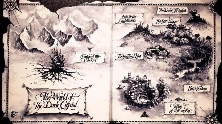 The Map of Thra at The Dark Crystal World of Myth and Magic