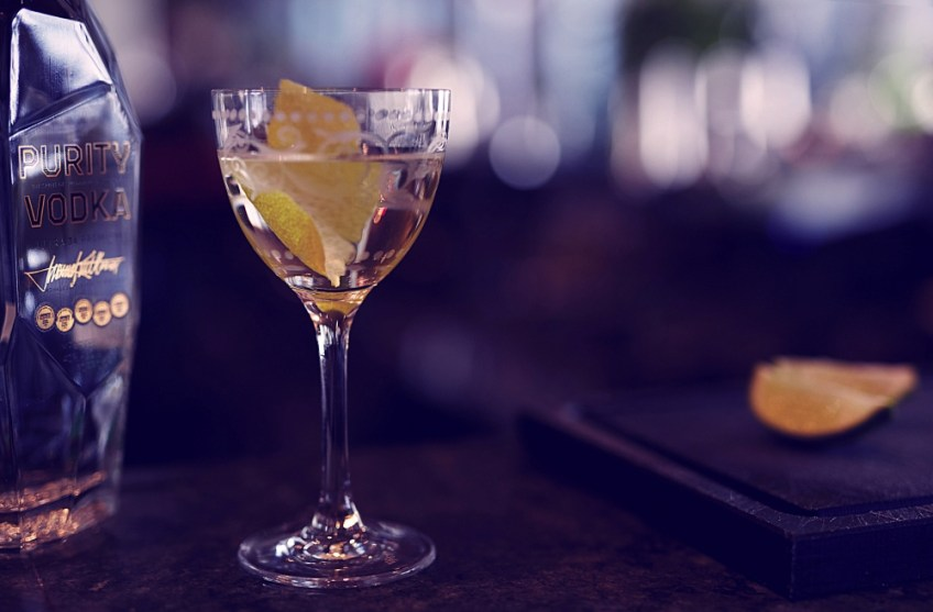 holiday cocktail ideas Purity Vodka Elevated Martini