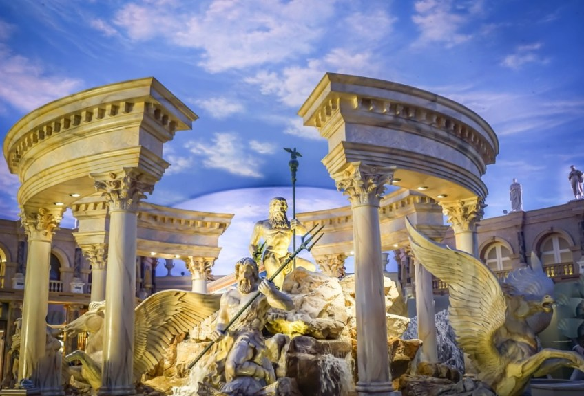 famous casino, caesars palace, las vegas